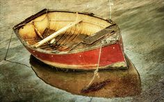 Lonely Red Boat by The Ginger Pixie, via Flickr