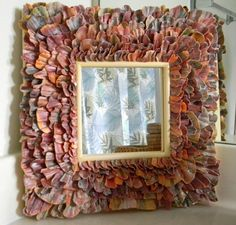 Colorfull Broken Scallop Mirror by Reflectionsoftheseas on Etsy, $55.00
