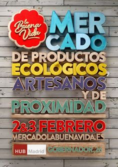 La Buena Vida Market (february 2013) by Mr. Oso, via Behance