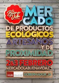 februari 2013, vintage chic, graphic, la buena, behance, posters, poster designs, buena vida, banner