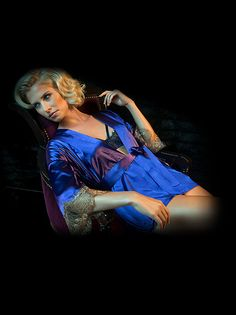 Silk Robe: Silk Kimono Robe by Fredericks of Hollywood