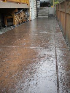Seamless stamped concrete job by Concrete Evolutions Concrete