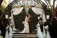 Southern California Weddings Outdoor Gazebo Ceremony at Padua Hills Theatre