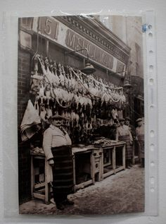 East End butcher but this was a familiar sight up until the beginning of WW2.