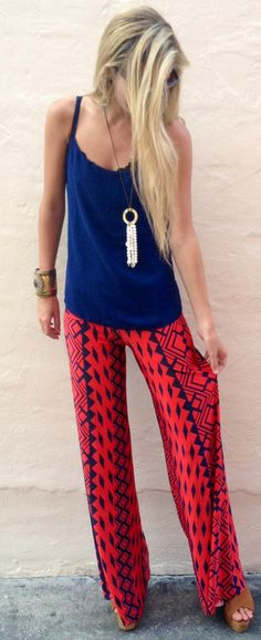 Crimson Tribal Exuma Pants - I thinking this is cute. Not sure if I could pull if off, but cute none the less.