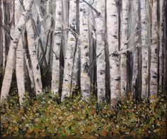Tree painting       At the Edge of the Forest by grafittigirl, $200.00