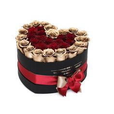 the million LOVE box - black - customized 1. mixed roses - the million roses