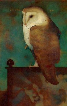 Jan Mankes (Dutch, 1889-1920) - A Barnowl