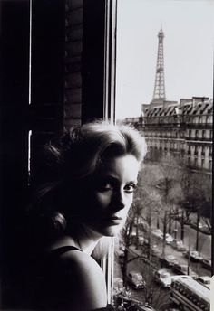 """Catherine Deneuve. Paris. 1976. Photographer: Helmut Newton """