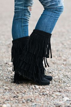 Dancing In My Moccasin Boots (Black) - NanaMacsBoutique ($48)