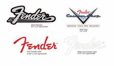 Original Fender Cut Stickers, 4 different Stickers with Fender Logo #music #gifts #thomann