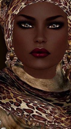 """Black art-Nubian Queen"" by Nadja Baxter. Black Women Art, Beautiful Black Women, Beautiful Eyes, Stunningly Beautiful, Black Girls, African American Art, African Art, African Prints, African Style"