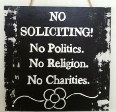 "NO SOLICITING SIGNS | No Soliciting Primitive Sign - 12"" H x 12"" L - Customization Available"