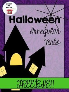 "This freebie consists of three no-prep worksheets targeting Halloween themed vocabulary. Have your students say the target word and then say the past tense form of the verb. Expand into sentences depending on the level of the student. Most of my kiddos need a closed prompt such as, ""Today the witch sweeps, yesterday the witch _____.""I hope you love this freebie!-Speech Me MaybeDont ForgetEarn TpT Credits for purchases on TpT."