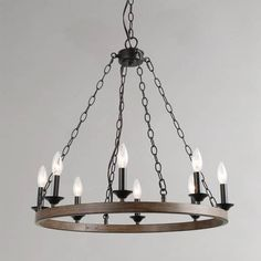 Shop for The Gray Barn Joyful Stream Farmhouse Chandelier. Get free delivery On EVERYTHING* Overstock - Your Online Ceiling Lighting Store! Farmhouse Chandelier, Rustic Chandelier, Chandelier Pendant Lights, Farmhouse Decor, Farmhouse Lighting, Chandeliers, Modern Farmhouse, Island Pendant Lights, Kitchen Pendant Lighting