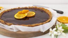 Irresistible chocolate and orange tart