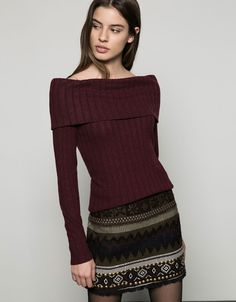 High neck jumper - Knitwear - Bershka Italy