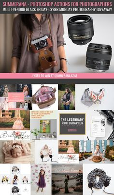 Summerana's Multi-Vendor Black Friday-Cyber Monday Photography Giveaway & Sale - Summerana - Photoshop Actions for Photographers Royal Photography, Dslr Photography Tips, Photography Words, Photography Contests, Photography Courses, Outdoor Photography, Photography Backdrops, Photography Tutorials, Photo Backdrops