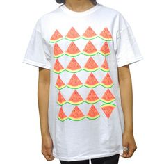 Watermelons White T-Shirt Unisex, 22€, now featured on Fab.