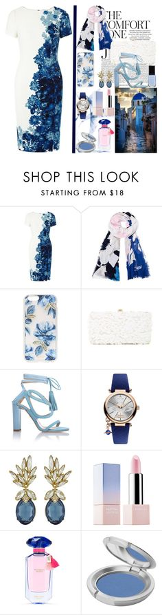"""""""Midnight  Skyblue Floral!"""" by nefertiti1373 ❤ liked on Polyvore featuring Adrianna Papell, Diane Von Furstenberg, Sonix, Deux Lux, Chelsea Paris, Vivienne Westwood, Ciner, Sephora Collection, Victoria's Secret and T. LeClerc"""