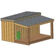 Insulated Dog House Plans, 15 Total, Large Dog, With Covered Porch Plans