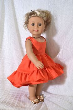 American Girl Dress, American Doll Clothes, Ag Doll Clothes, American Dolls, Doll Dress Patterns, Pdf Sewing Patterns, Clothing Patterns, Pattern Dress, 18 Inch Doll