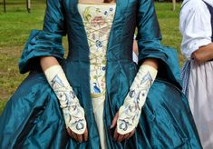Flintlock and laces: Baltic Sail 2014 Mitts and stomacher 18th Century Dress, 18th Century Costume, 18th Century Clothing, 18th Century Fashion, Fairy Tale Costumes, Movie Costumes, Historical Costume, Historical Clothing, Rococo Fashion