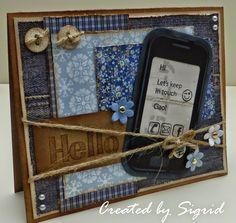 Great card by Sigrid - Kaart met smartphone