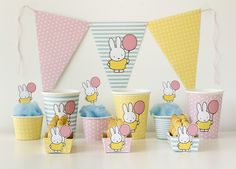 Miffy Bunny Party with Free Printables! via Kara's Party Ideas KarasPartyIdeas.com Printables, desserts, supplies, banners, and more! #miffybunny #miffybunnyparty #freeprintables #bunnyparty (9)