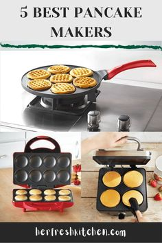 Get the best pancake makers reviews to help ease your work in the kitchen Pancake Pan, Pancake Maker, Silver Dollar Pancakes, Crepe Maker, Kitchen Reviews, How To Make Pancakes, Kitchen Essentials, Recipe Of The Day, Crepes