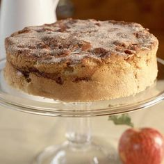 Cinnamon-Apple Cake Recipe ~ This 5-star cinnamon apple cake is one of our best-ever recipes and can be served as dessert or a breakfast coffee cake. The cream cheese in the batter gives the cake lots of moisture.