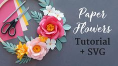 Paper Flower Patterns, Paper Flowers Craft, Paper Crafts Origami, Paper Flower Wall, Paper Flower Tutorial, Giant Paper Flowers, Flower Crafts, Diy Flowers, Diy Paper
