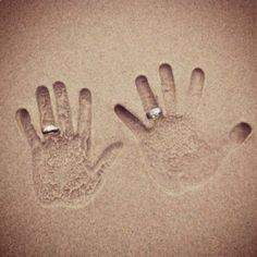 Handafdruk met ringen