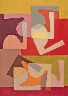 'Fractional Module' (1947-51) by Saloua Raouda Choucair