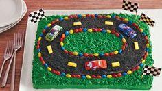 Racetrack Sheet Cake