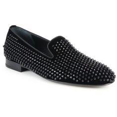 Louis Leeman Studded Velvet Smoking Slippers : Louis Leeman Shoes ($1,010) ❤ liked on Polyvore featuring men's fashion, men's shoes, men's slippers, apparel & accessories, black, mens black studded shoes, mens velvet shoes, mens black shoes, mens velvet slippers and mens black velvet shoes