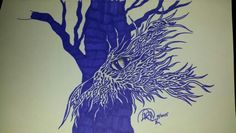 Abstract dragon face