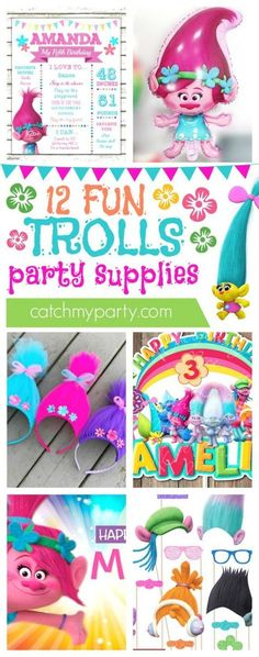 12 Amazing Trolls Party Supplies | CatchMyparty.co…