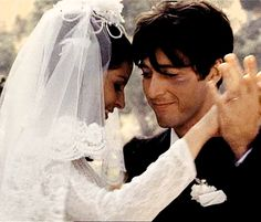 "Al Pacino and Simonetta Stefanelli in ""The Godfather"" Francis Ford Copolla) Andy Garcia, The Godfather, Wedding Movies, Wedding Day, Young Al Pacino, Shire, Don Corleone, Corleone Family, Katharine Ross"