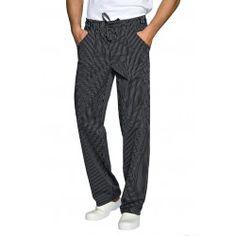 Fekete csíkos szakácsnadrág Parachute Pants, Sweatpants, Fashion, Moda, Fashion Styles, Fashion Illustrations