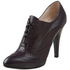 """from: www.amazon.com - """"Saltara"""" oxford pumps from Bruno Magli. A high-heel pair of pumps bound together by a lace-up portion."""