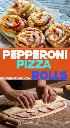 Homemade Pizza Rolls – A Great Party Food Appetizer or Snack - Recipes Of Chef Yummy Appetizers, Appetizer Recipes, Snack Recipes, Homemade Pizza Rolls, Tapas, Food Dishes, Main Dishes, Main Meals, Cooking Recipes