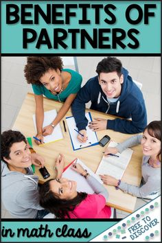 Learn about five benefits of utilizing partners and small groups in middle school and high school math.  Cooperative learning is great for confidence, engagement, participation, peer teaching, and more!  Once you've got the basics down, click the image at the bottom of the post to learn how this applies to remote learning and social distancing.  Blog post by Free to Discover. Grammar Lessons, Grammar Worksheets, Middle School Classroom, School Teacher, English Classroom, Teacher Hacks, Math Teacher, College Student Gifts, College Students