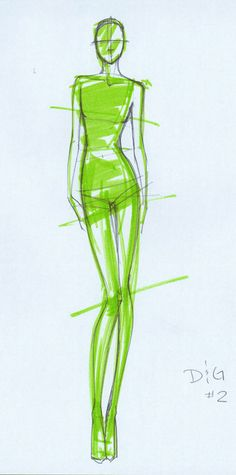 DG Sketch No.2 TheBocaj Fashion Sketching Assignment--D