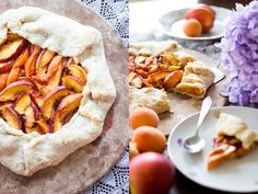 Nectarine and Apricot Vegan Galette