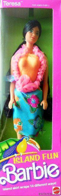 NEW ~ 1987 Island Fun Barbie Teresa #4117