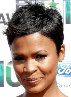 Nia Long's pixie cut is adorable! To learn how to grow your hair longer click here - http://blackhair.cc/1jSY2ux