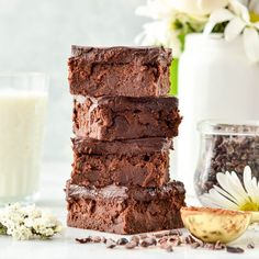 Healthy Greek Yogurt Brownies with Chocolate Ganache are so fudgy and delicious that no one ever suspects they're healthy! Gluten-free & grain-free!