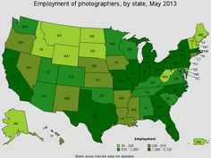 Maps Showing the Pro Photography Landscape in the United States