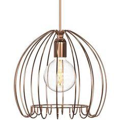 Bronze Cage Pendant - More Info - Luke@e2lighting.co.uk